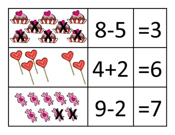 Valentine Addition and Subtraction