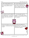 Valentine's Day Math - Addition and Subtraction with Regrouping - Word Problems