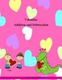 Valentine Addition and Subtraction with answers