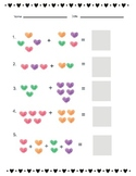 Valentine Addition and subtraction mini-pack