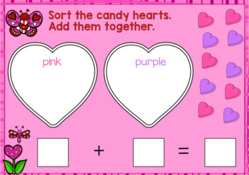 Valentine Addition to 10, Sorting Practice Math Practice Digital Boom Cards