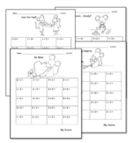 Valentine Addition to 5 Drills Kindergarten Common Core Math K.OA.5