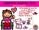 Valentine Addtion to Ten-Matcing Game