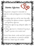 Valentine Adjective Review and Writing