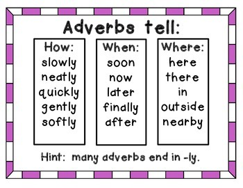 Adverb Activities with a Valentine theme