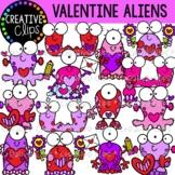 Valentine Alien Clipart {Valentine Clipart}