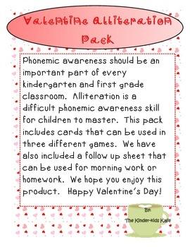 Valentine Alliteration Pack