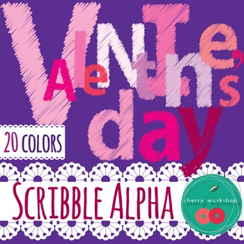 Valentine Alpha Clip Art - Letters, Numbers and Symbols {C