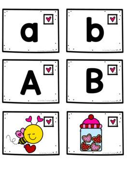 Valentine Alphabet/Alphabet de la Saint-Valentin - Majuscules et minuscules