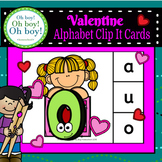 Valentine Alphabet Clip It Cards - S