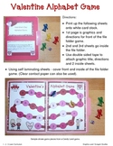 Valentine Alphabet File Folder Game