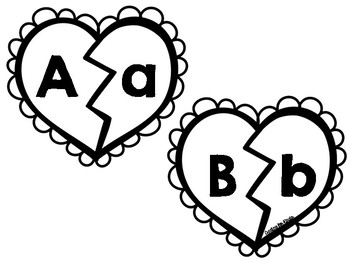 Valentine Alphabet Match