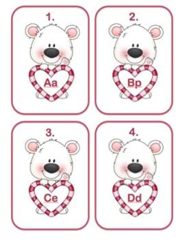 Valentine Alphabet Match Up