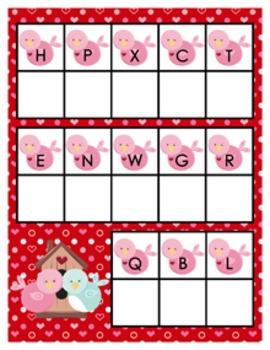 Valentine Alphabet Matching Activity