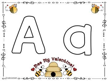 Valentine Alphabet Playdough Mats