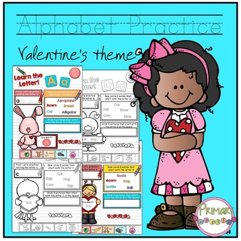 Valentine Alphabet Practice