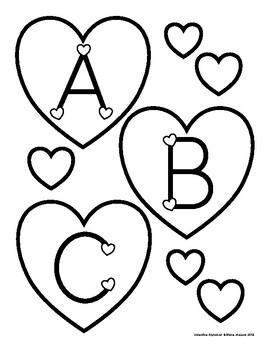 Valentine Alphabet Set for Bulletin Boards, Banners & More!
