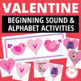 Valentine's Day Literacy Activities   Valentine's Alphabet and Beginning Sounds