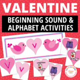 Valentine's Day Literacy Activities | Valentine's Alphabet and Beginning Sounds