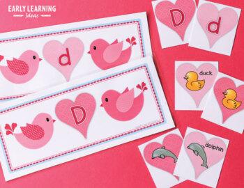 Valentine's Day Literacy Activities | Valentine's Alphabet and Beginning Sounds