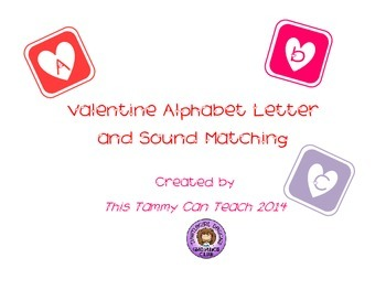 Valentine Alphabet & Sound Matching