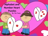 Valentine Alphabet and Number Puzzles