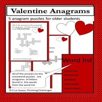 Valentines Day Anagrams