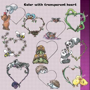 Valentine Animal Clips and Frames