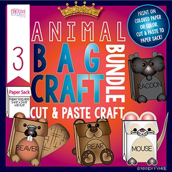 Valentine Animal Craft Bag Bundle 3