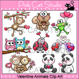 Valentine's Day Animals Clip Art Value Pack