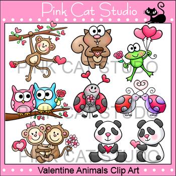 Valentine's Day Animals Clip Art Value Pack