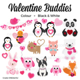 Valentine Animals Clipart, Valentine Friends, Valentine's