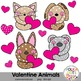 Valentine Animals with Hearts Clipart {Graphics for Commercial Use}