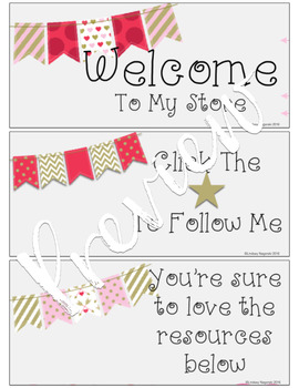 Animated Quote Box Banner (Animated Valentines GIF) for Your TpT Store