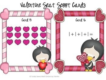 Valentine Arrays and Repeated Addition Seat Scoot