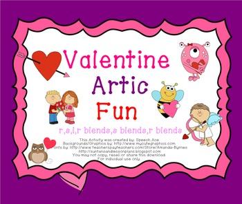 Valentine Artic Fun - Later Sounds: r,s,l,r blends,s blends,l blends