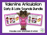 Valentine's Day Articulation BUNDLE: Early & Late Sounds for Speech Therapy