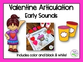 Valentine's Day Articulation: Early Sounds for Speech Therapy