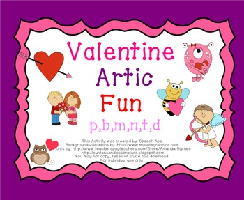 Valentine Articulation Fun: Early Sounds - P,B,T,D,M,N