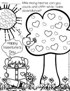 Valentine Attendance Activity