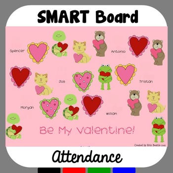 Valentine's Day SMART Board Attendance