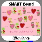 Valentine's Day SMARTBoard Attendance