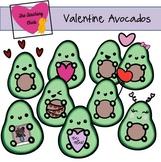 Valentine Avocado Clip Art