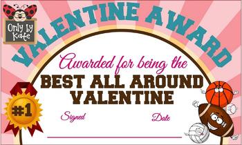 Valentine Awards, Valentine Cards, Print Your Own