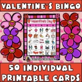 Valentine's Day BINGO: 50 Individual Boards, Calling Cards, & Memory Game
