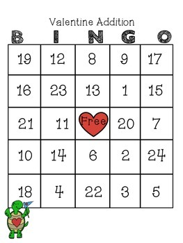 Valentine BINGO: Addition