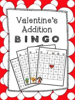 Valentine BINGO: Addition