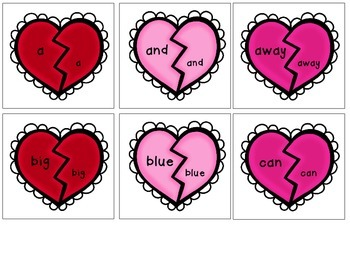 Valentine BUNDLE - Dolch Sight Words, Letters, Numbers, and Colors