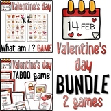 Valentine BUNDLE ❤ GUESS WHAT and TABOO games ❤ Bonus bookmarks
