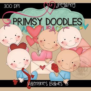 Valentine Babies 300 dpi clipart